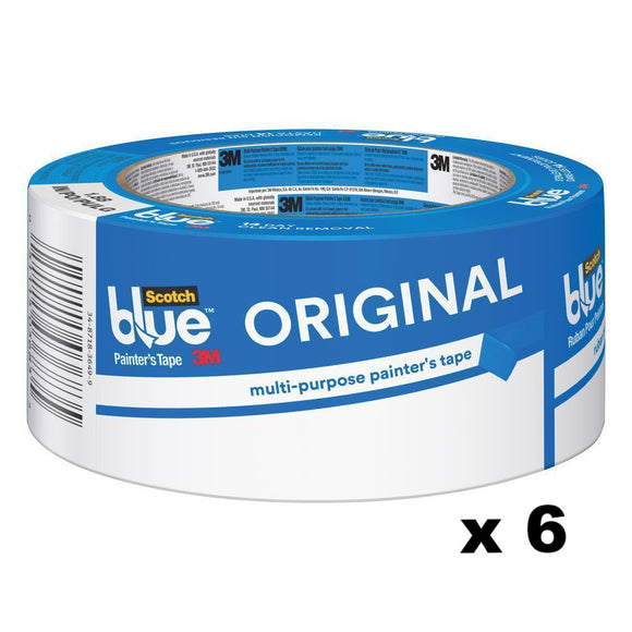 3M Scotch Blue Original Painter's Masking Tape 2090 48mm x 54.8m x 6