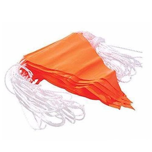 Maxisafe Orange PVC Bunting Flag line - 30m Roadwork Barrier Sporting events