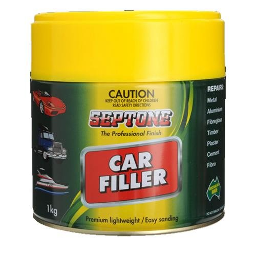 Septone Automotive  Car Body filler 1kg Polyester Lightweight Boats Caravans