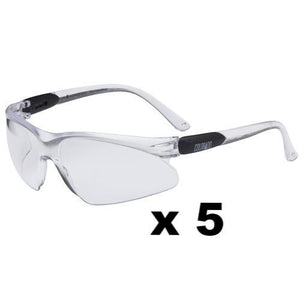 Maxisafe Colorado Safety Glasses AS/NZS1337 Anti Scratch Fog Coating Clear x 5
