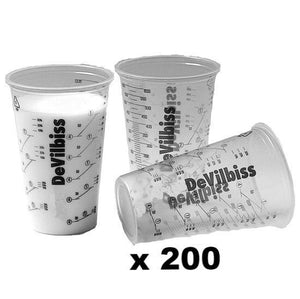 Devilbiss Calibrated Graduated Paint Mixing Cups 600ml x 200 PPS Measuring Cup