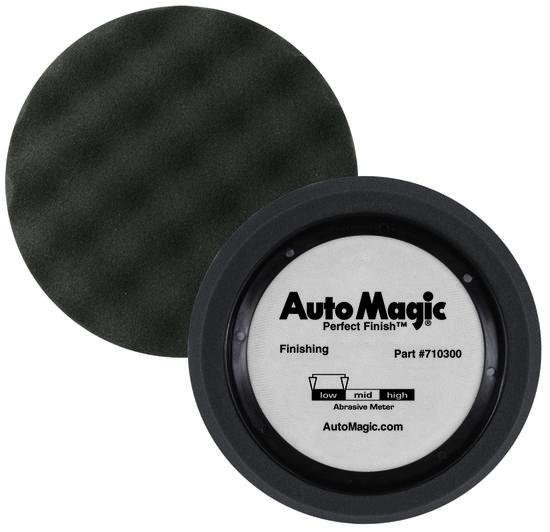 Auto Magic Perfect Finishing Low Polish Buffing Black Waffle Foam Pad 180mm