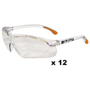 Maxisafe Kansas Safety Glasses AS/NZS1337 Anti Scratch Fog Coating Clear x 12