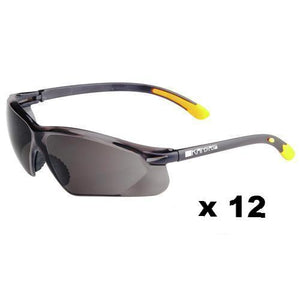 Maxisafe Kansas Safety Glasses AS/NZS1337 Anti Scratch Fog Coating Smoke x 12