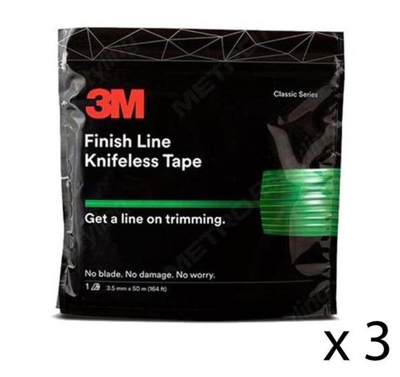 3M Finish Line Knifeless Tape KTS-FL1 Green 3.5mm x 50m x 3 Rolls