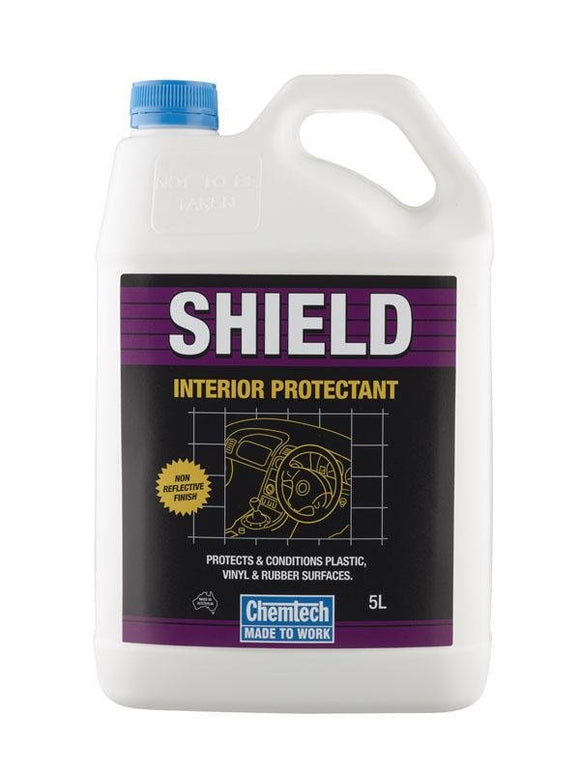 Chemtech Shield Interior Protectant 5lt Spray Bottle Plastic Vinyl Rubber