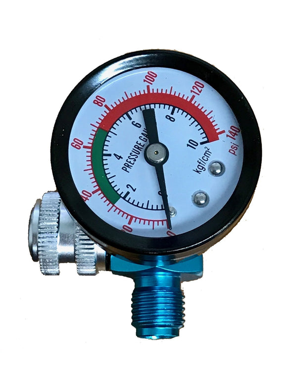 SPRAY GUN AIR REGULATOR 140PSI BAR REG GAUGE SUITS SATA IWATA DEVILBISS STAR