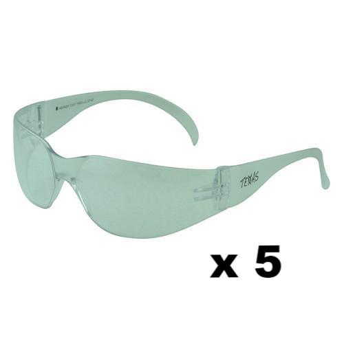 Maxisafe Texas Safety Glasses AS/NZS1337 Anti Scratch Fog Coating Clear x 5