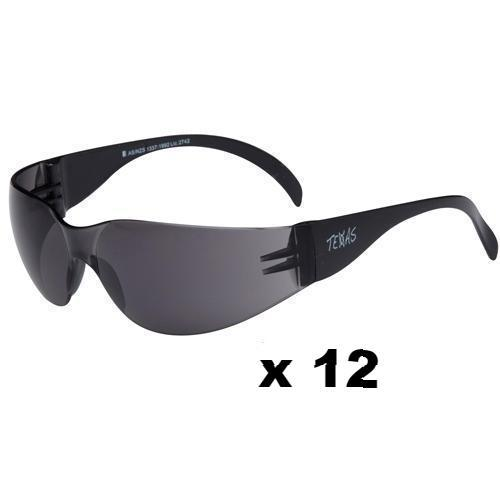 Maxisafe Texas Safety Glasses AS/NZS1337 Anti Scratch Fog Coating Smoke x 12