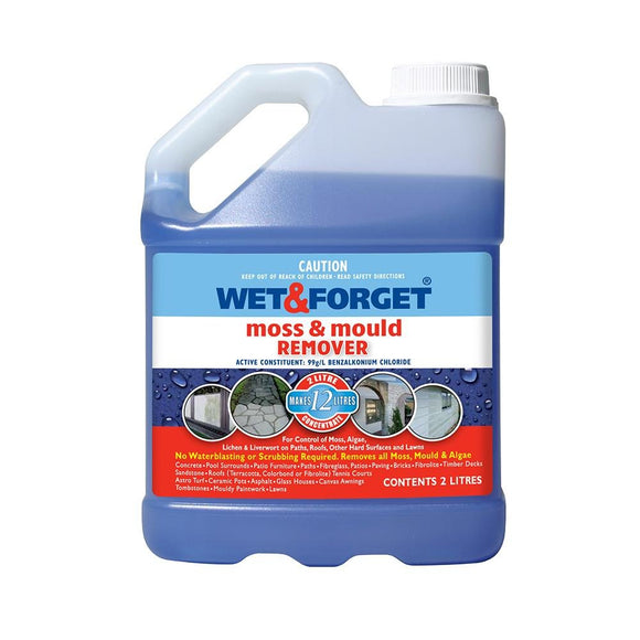 Wet And Forget Moss Mould Grime Remover Surface Cleaning 2L