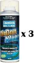 Chemtech AirCon Kleen Air Conditioner Cleaner Citrus Scent Aerosol 150g x 3