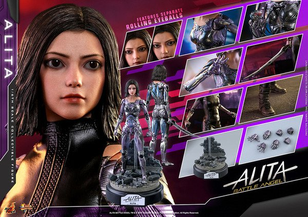 Live-Action Battle Angel Alita Doll Features Over 30 Movable Parts, A Blade, Heart, And Rolling Eyes