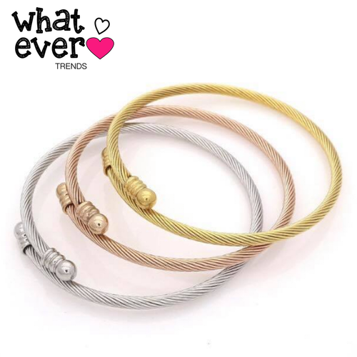 cable twist bangle bangles female bracelet best male simsimi bracelets steel wire rope