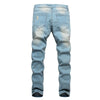 New Ripped Jeans Men's Patchwork Hollow Out Cowboys Denim Pants. - Fibermerix - Chic