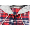Autumn Winter Woman Striped Flannel  Long Sleeve Shirt With Hoodie. - Fibermerix - Chic