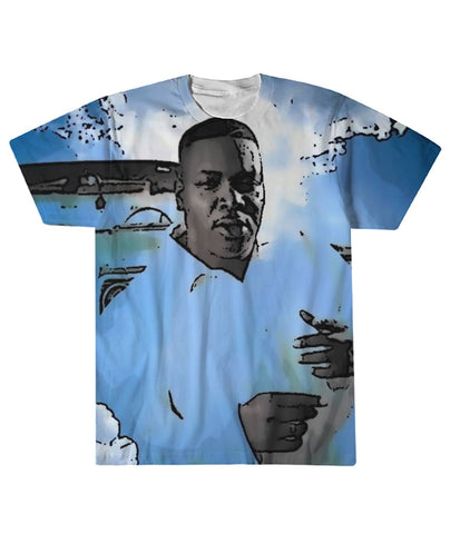 Fat Pat Clouds Sublimation Tee Sublimation Tee