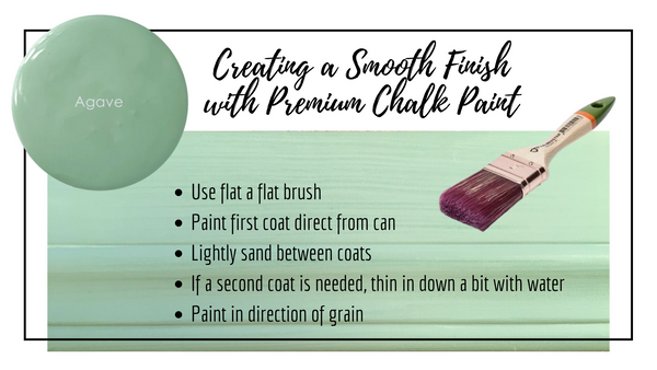 Smooth Finish with Premium Chalk Paint