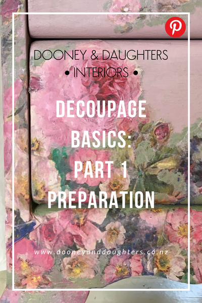 Decoupage Basics Part One Preparation
