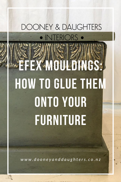 Efex Mouldings: How to glue them onto your furniture