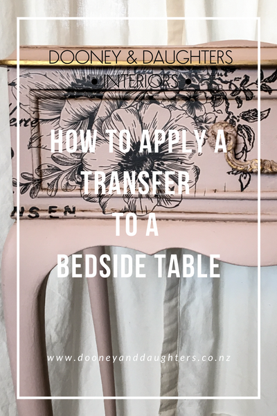 How to apply a transfer to a bedside table