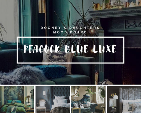 Dooney & Daughters - Peacock Blue Luxe Mood Board