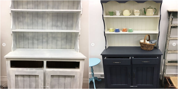 Upcycled Hutch Dresser Before & After