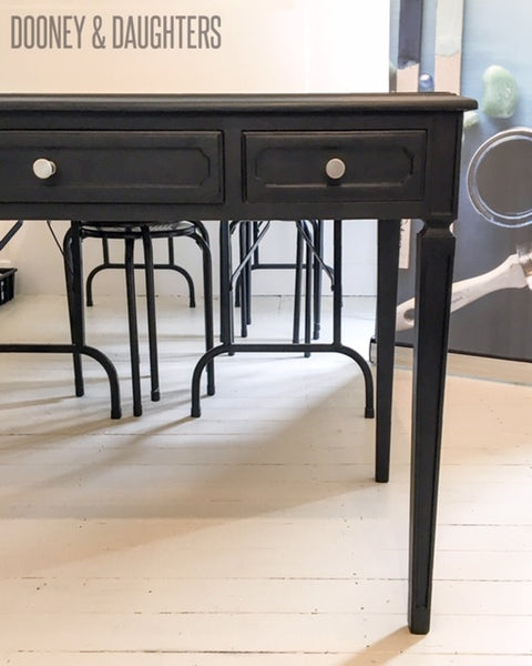 Victorian Black Painted Desk
