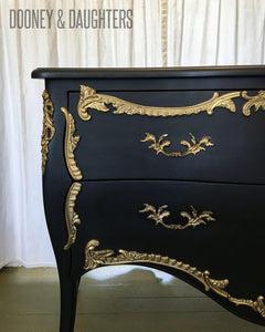 Carbon Black Louis XVI Commode