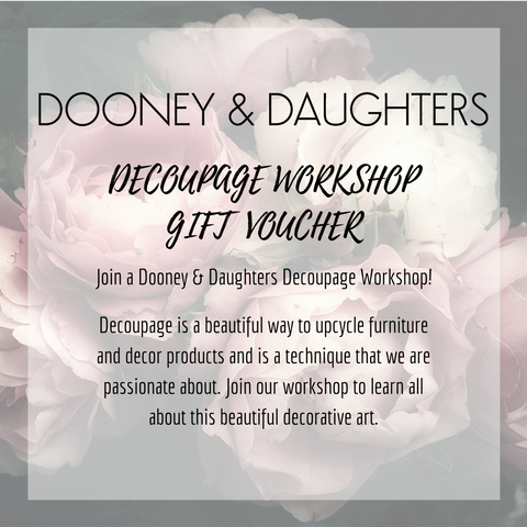 Decoupage Workshop Gift Voucher