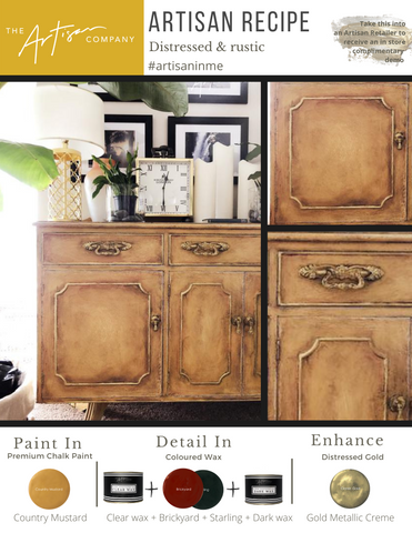 Distressed & Rustic in Country Mustard