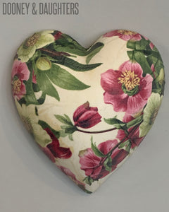 Easter Rose Ceramic Heart