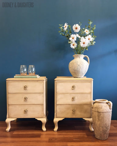 French Rustic Bedside Tables