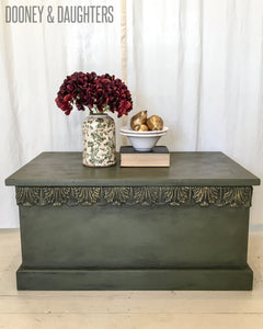Olive Green Blanket Box