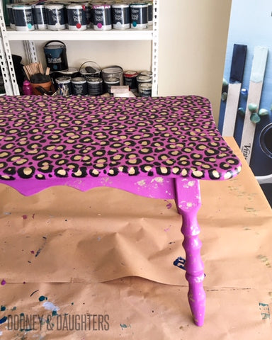 Leopard Print Coffee Table