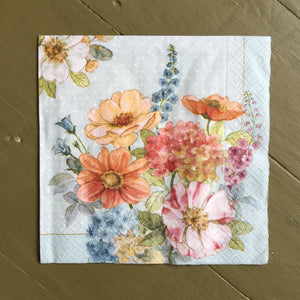 Napkin - Cottage Flowers