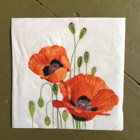 Napkin - Poppies