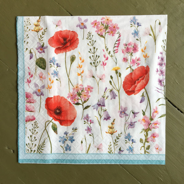 Napkin - Poppy Meadow
