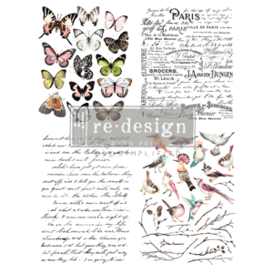 Parisian Butterflies Transfer for ReDesign