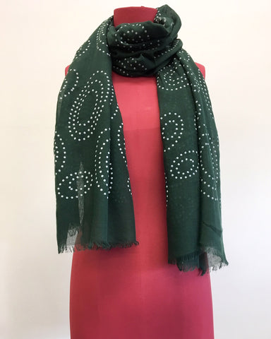 Swirl in Emerald Scarf