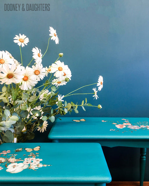 Teal Stacking Tables