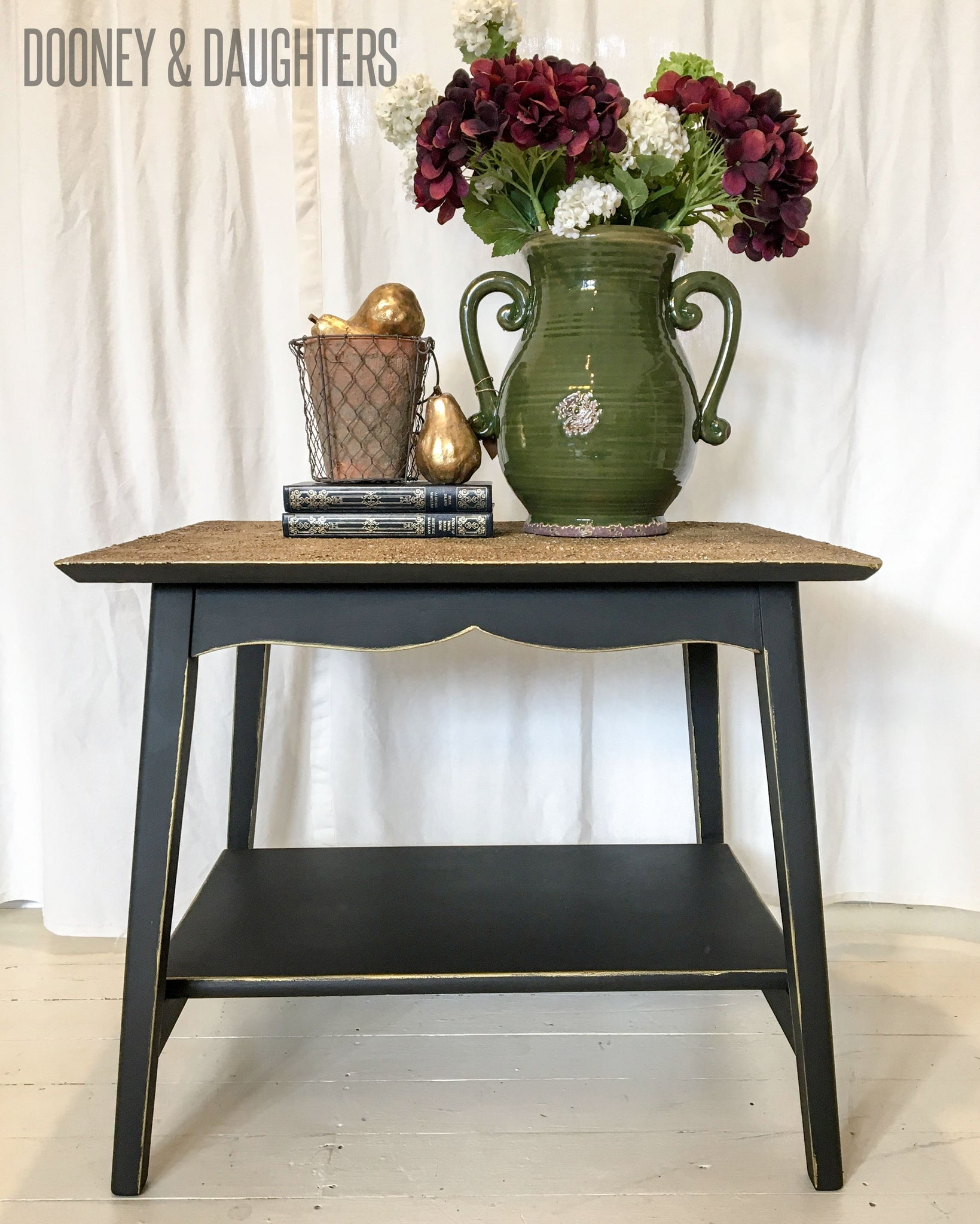 Textured Gold Side Table