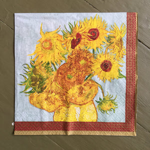 Napkin - Vase with Sunflowers