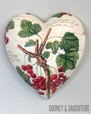Winter Berries Ceramic Heart