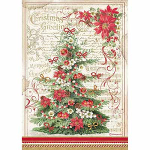 A4 Rice Paper - Christmas Greeting Tree