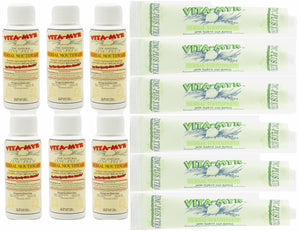 12 Pack (6+6) of Vita-Myr INDIVIDUAL Mouthwash & Zinc X-Tra Toothpaste