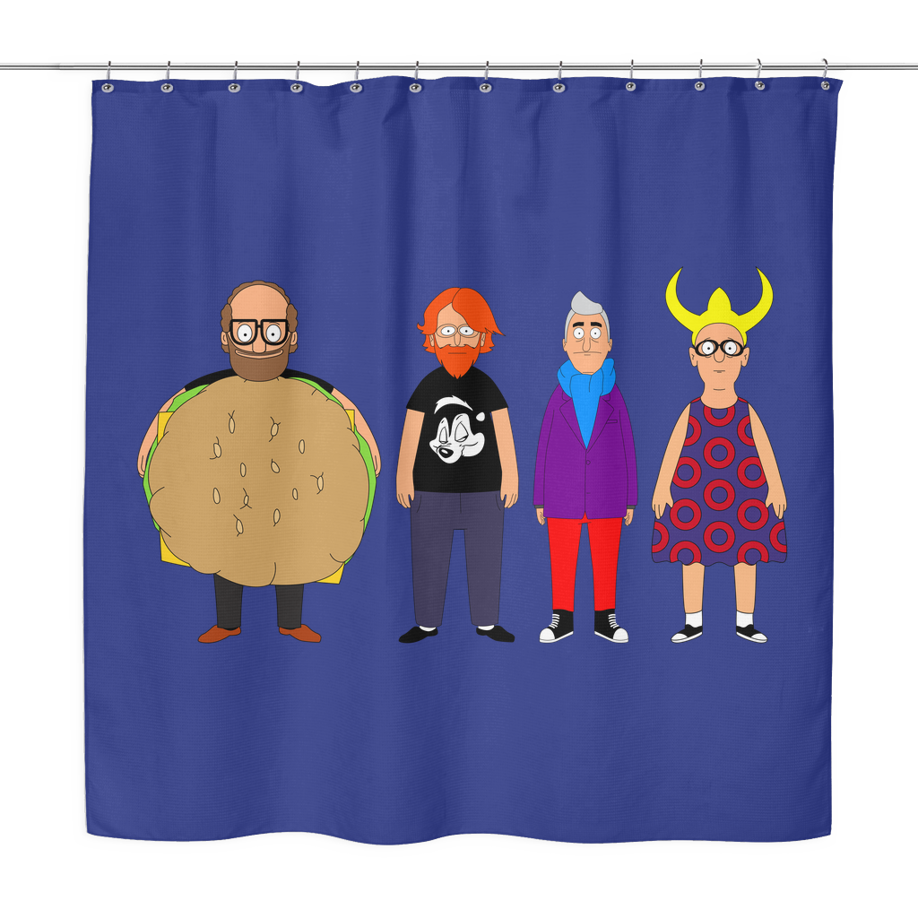 Bob's Burgers Phish Shower Curtain