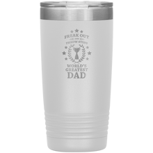 Fuego World's Greatest Dad Phish Etched Vacuum Tumbler by Custeez