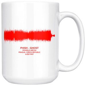 Phish Prague Ghost Soundwave Mug by Custeez