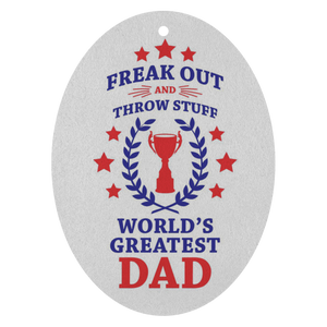 Fuego World's Greatest Dad Phish Air Freshener by Custeez