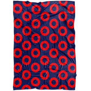 Phish Fishman Doughnut Print Fleece Blanket by Custeez